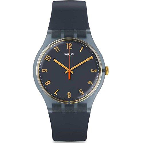 Swatch hombre magies D 'hiver suom105vestido cuarzo Swiss reloj de silicona gris