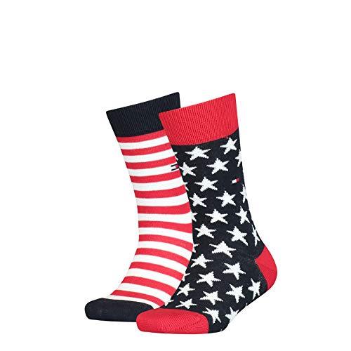 Tommy Hilfiger unisex-child Stars and Stripes Kid's (2 pack) Socks, tommy original, 35/38 (2er Pack)