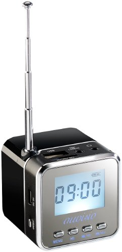 auvisio Radiowürfel: Mini-MP3-Station mit integriertem FM-Radio, USB-/SD-Karten-Slot, 8 W (Würfelradio)