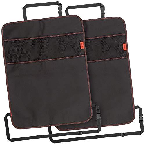 Aiydachy Car Boot Organiser Waterproof Kick Mats Car Organiser Seat Back Protectors, Multi-Pocket Children's Travel Storage, Durable Foldable Cargo Net Storage for Car Backseat Cover