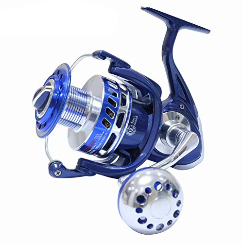SALTIGA Spinning Carretes 30KG 6000 7000 8000 9000 10000 Heavy Duty mar Pesca Jigging Carrete de Pesca Arrastre,Blue,MX10000