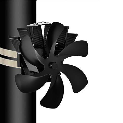 fuguzhu 6 Lame Ventola Stufa Legna, Ventilatore Silenzioso per Stufa A Circolazione di Calore Risparmia Carburante con Protezione Surriscaldamento per Bruciatore A Legna/A Legna/Caminetto
