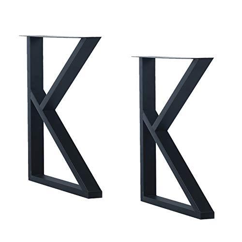 "MBQQ Furniture Legs 28""Height 17.7""Wide Rustic Decory K Shape Table Legs,Heavy Duty Metal Desk Legs,Dining Table Legs,Industrial Modern, DIY Iron Bench Legs,Butcher Block Table"