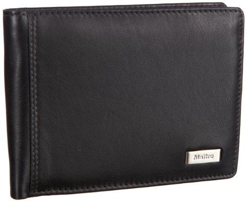 Maitre Portemonnaie (QF) 4060000243 Unisex-Erwachsene Geldbörsen 13x13x1 cm (B x H x T), Schwarz (black 900)