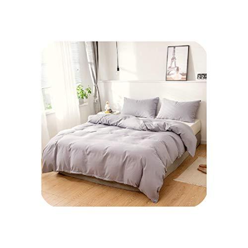 Goods-Store-uk Bettbezug-Set für King-Size-Bett, Doppelbett, Einzelbett, europäisches Bettzeug, Bettdecke, für Zuhause, Hotel, Bettwäsche, Rot / Grau, 150 x 200 x 1 (50 x 75 x 1)