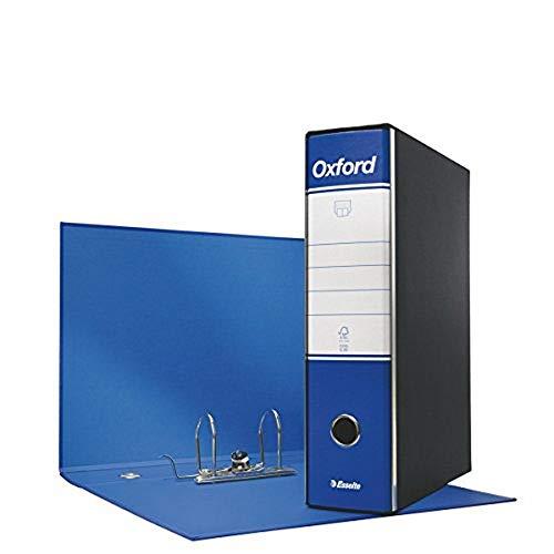 ESSELTE G83 OXFORD Registratore - f.to commerciale dorso 8 cm -  fino a 500 fogli (80gr/mq) - Blu - Confezione da 6 pezzi - 390783050