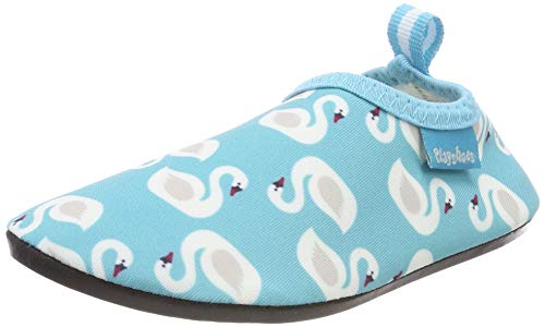 Playshoes Mädchen Badeslipper Aqua-Schuhe Schwäne, Türkis (Türkis 15), 22/23 EU