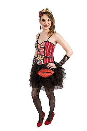 Tasche Kussmund Glitzer Rot Karneval