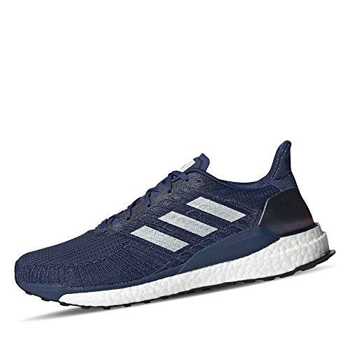 adidas Herren Solarboost 19 Straßenlaufschuhe, Blau (Tech Indigo/Dash Grey/Solar Red), 46 EU
