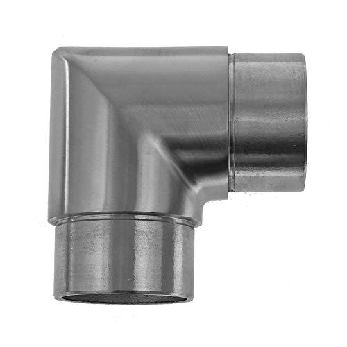 Edelstahl Winkel geschliffen V2A Rohrbogen Geländer Fitting VA Ø 42,4 90° + 45°, Modell:3157-1 90°