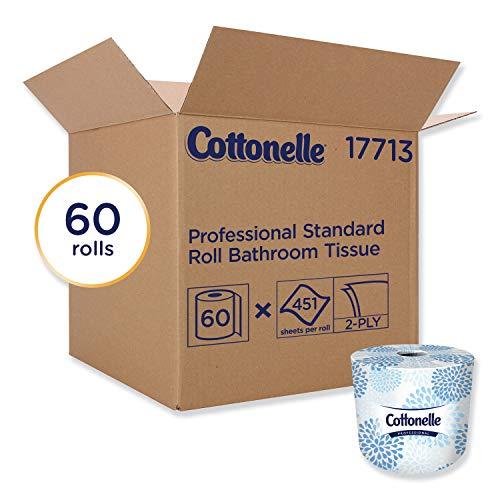 Cottonelle Professional Bulk Toilet Paper for Business (17713), Standard Toilet Paper Rolls, 2-PLY,...
