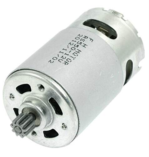 WSCHENG® Motor eléctrico RS550 Motor 12V-18V 9/12 Dientes para Destornillador de Broca sin Cable GSR (Speed(RPM) : 9.6v 9Teeth)