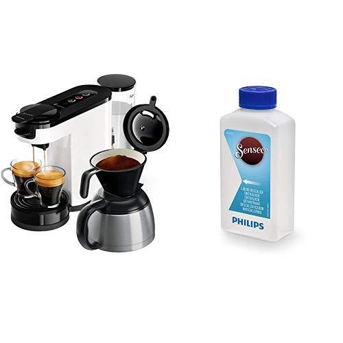 Philips Senseo HD6592/00 Switch 2-in-1 Kaffeemaschine, weiß mit Flüssigentkalker CA6520/00