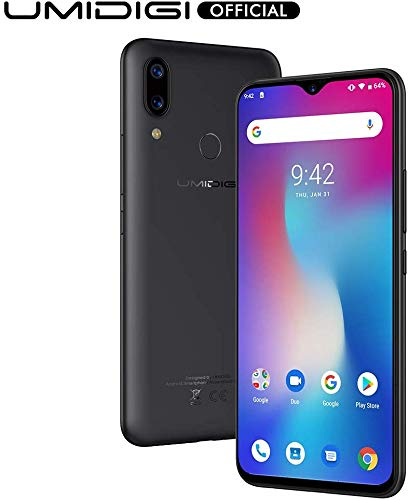 UMIDIGI Power Unlocked Cell Phones, Android 9.0 Smartphone 6.3' FHD+ Waterdrop Full Screen, 16MP+5MP Dual Rear Camera 64GB+4GB RAM 5150mAh Battery 18W Fast Charge Dual 4G (Black)