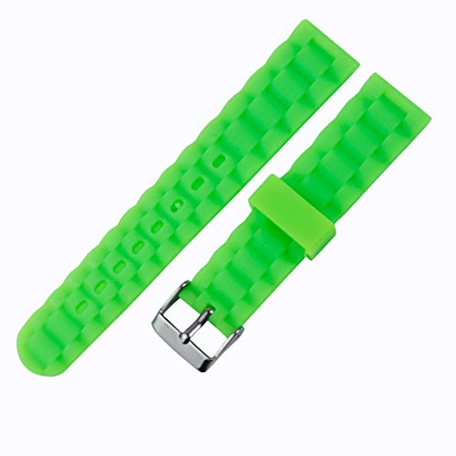 KHZBS Silicone Rubber Watch Band Replacement for Huawei Watch 2 Ticwatch 2 Samsung Galaxy Watch 42mm Smart Wristband Strap