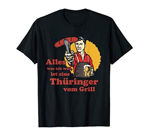 Herren Thüringer vom Grill, Grillmeister, Lustiges Grill Liebhaber T-Shirt