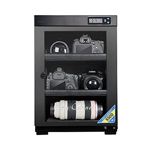 Armadio di essiccazione essiccante della fotocamera, ripiano regolabile, scatola elettronica a prova di umidità intelligente a umidità costante, stoccaggio di apparecchiature elettroniche/Blac