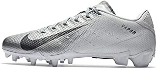 Men's Vapor Speed 3 TD Football Cleats(White/Grey, 7.5 D(M) US)