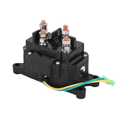 Yctze Relé de 12 V, ABS universal y aleación de aluminio ATV UTV Winch Solenoide Relé Interruptor de contactor para Marine, 63070