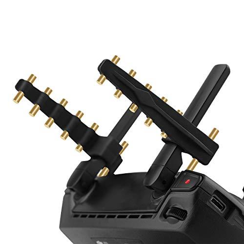 GEEMEE für DJI Mavic 2/PRO/AIR/Mini/PRO Drohnen Signal Booster ,Controller Yagi Signal Booster Antennen Range Extender Fernbedienung Antenne Range Extender -schwarzes Gold