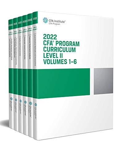 2022 CFA Program Curriculum Level II Box Set
