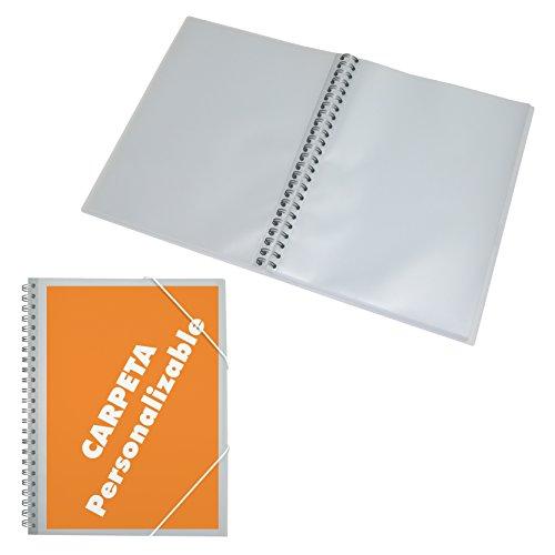 DOHE 91336 - Carpeta espiral, 30 fundas, personalizable