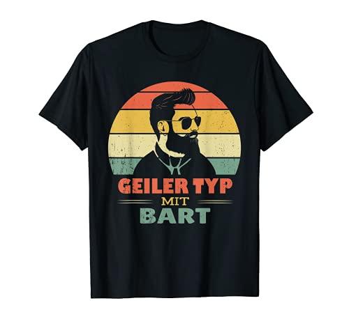 Hombre Gafas de sol tipo Geiler con barba, retro, vintage Camiseta