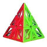 Baoblaze 2x2 Cubo Mágico de Velocidad Forma de Pirámide Puzzle 3D Juguete para Desarrollo de Inteligencia de Niños