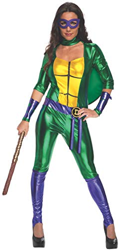 Rubie's Official Women's Donatello Teenage Mutant Ninja Turtles Donatello Costume Jumpsuit, 4 Sizes