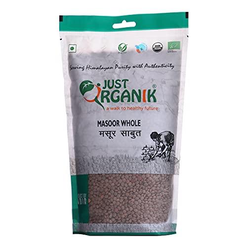 Just Organik Masoor Whole 1kg, 100% Organic