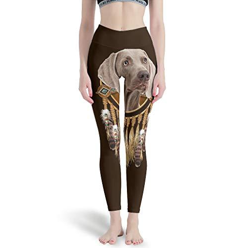 LIFOOST Polainas deportivas de Weimaraner Traumfänger Mujeres Sexy Tobilleras elásticas - Pantalones de yoga para correr, color blanco