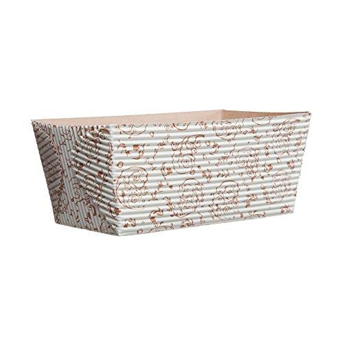 Welcome Home Brands Rectangular Loaf Baking Pans, Brown Blossom (25 pack)