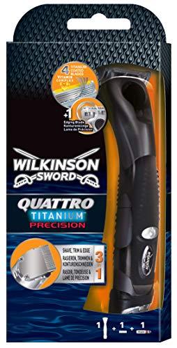 Wilkinson Sword Quattro Titanium Precision heren scheerapparaat met 1 scheermes, 1 st