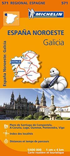GALICIA 11571 CARTE   REGIONAL   MICHELIN KAART (Régional Espagne)