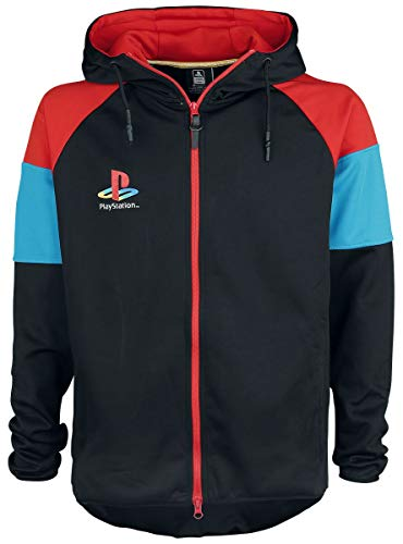 Playstation Logo Männer Kapuzenjacke schwarz XXL 100% Polyester Fan-Merch, Gaming, Retrogaming