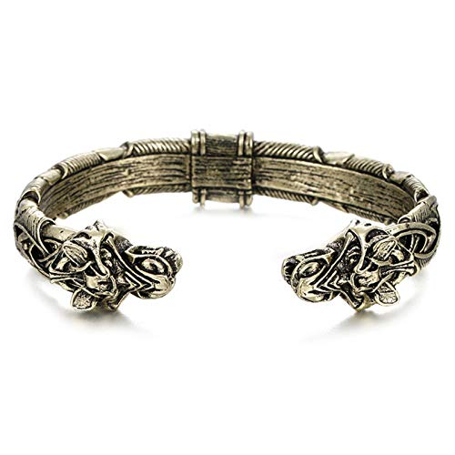 Domeilleur The Great Fenrir Handcrafted Bracelet Viking Bracelet Fashion Jewelry for Men Women