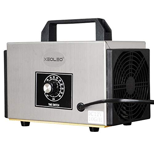 XEOLEO Generador de ozono 10g/h Máquina portátil de ozono para Coche/casa 12V Purificador de Aire Esterilización de Aire Máquina de desinfección