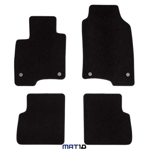 MAT10 Línea Negra: Fiat Panda III Tipo 319, año de fabricación 2016 – 01 – X Auto felpudos Coche Alfombrillas Dilour Fieltro punzonado 4 Piezas Negro Ajuste garantizado
