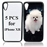 JUSTRY 5 PCS Sublimation Blanks Phone Case Cases Covers Compatible with Apple iPhone XR 6.1 Inch Blank Printable Phone Case for DIY Sublimation Soft Rubber Shockproof Slim Case Anti-Slip