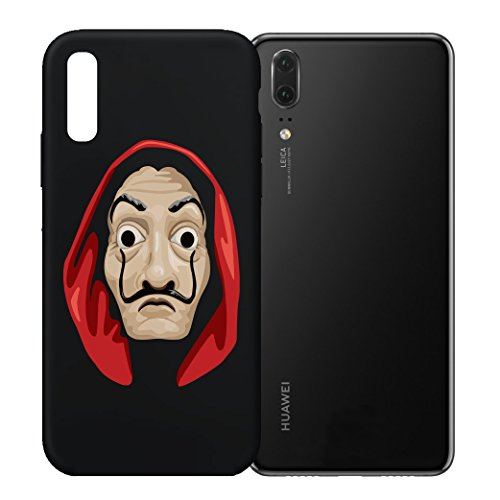 Pevita Funda La casa de papel Dalí. Funda Iphone X, S9, Huawei P20/P20 Lite. Silicona TPU Resistente (Huawei P20)