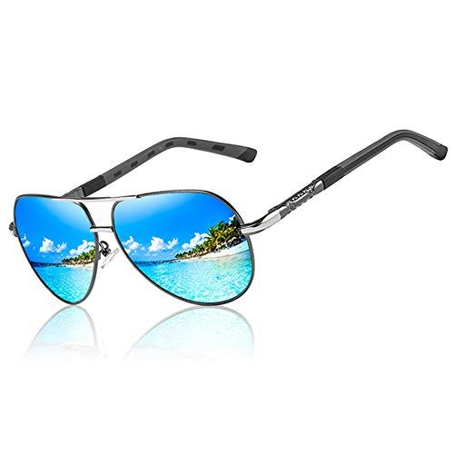 AORON Polarisierte Sonnenbrille Herren Damen Retro Sonnenbrille Männlich/Sport im Freien Golf Radfahren Angeln Wandern Eyewear Sonnenbrille (Blau)