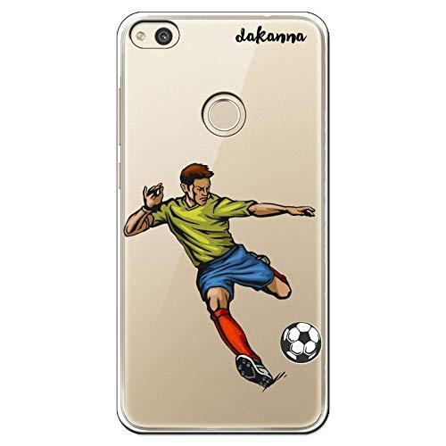dakanna Funda para Huawei P8 Lite 2017 | Jugador de Fútbol | Carcasa de Gel Silicona Flexible | Fondo Transparente