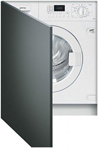 Smeg lsta127integriertem Ladekabel Bevor B weiß Waschmaschine mit Wäschetrockner–Waschmaschinen mit Wäsche (Belastung vor, integriert, weiß, links, Knöpfe, drehbar, Edelstahl)