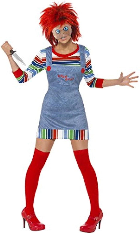 Chucky Lady Kostüm L 44 46 Chucky Kostüm Halloweenkostüm Lizenzkostüm Mrderpuppe