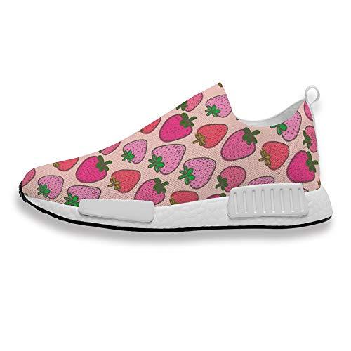 Zapatillas deportivas para mujer, con estampado de sandía, para correr, cómodas y transpirables, ideales para fitness, caminar, trotar, color, talla 36 1/3 EU