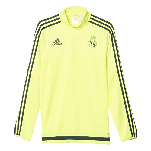 adidas Real Madrid CF TRG Top - Camiseta, Color Amarillo/Gris, Talla S
