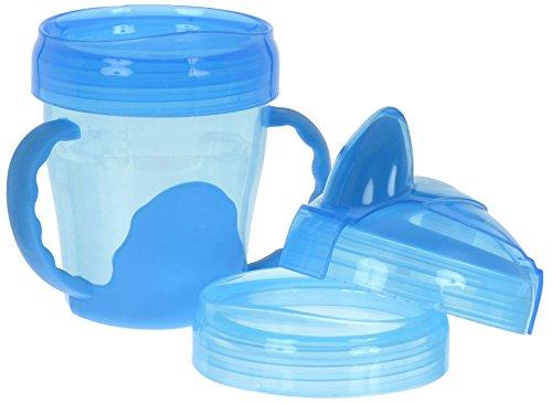 Vital Baby Gobelet d'Apprentissage à Anses - 3-en-1 - Bleu - 200 ml