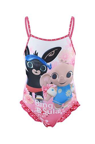 Bing Bunny - Bambina - Costume da Bagno Slip Monokini - Bikini 2 Pezzi - Intero con Volant Mare Piscina - Prodotto Originale [6123 Fucsia - 6 Anni]