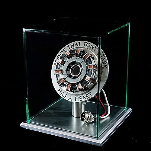 WXHJM Iron Man Arc Reactor MK1 1:1 Verhältnis Vibrationssensor,LED Licht,USB Anschluss,Mit Vitrine,Für Sammlungen Spielzeug Geschenk,MK1