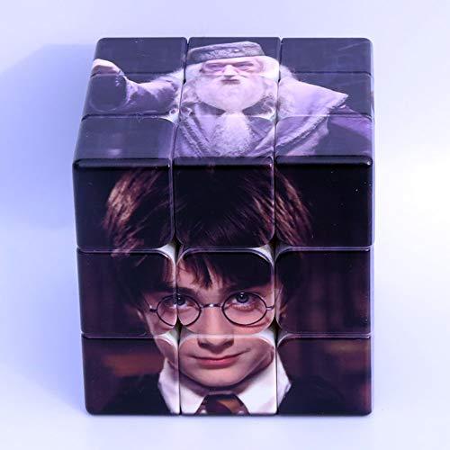 RXT Harry Potter 3x3x3 Puzzle Magic Cube, ABS de Material Duradero ecológico, sólido, Duradero y sin Pegatinas, Esmerilado, se vuelve más rápido Que el Original